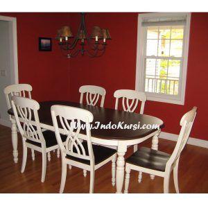 set meja makan minimalis cat duco | kamar dekor, dekor