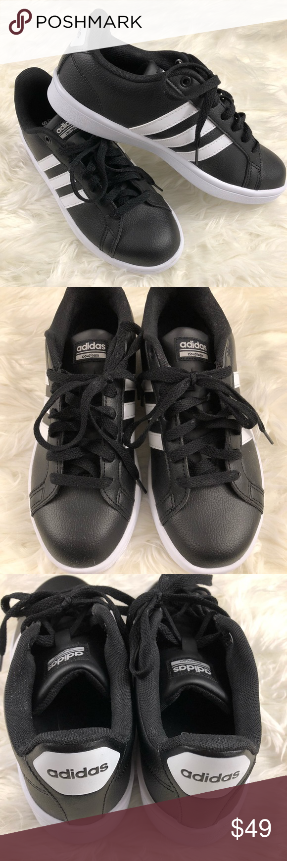 Black Ortholite Float Shoes by Adidas Womens Sz 8