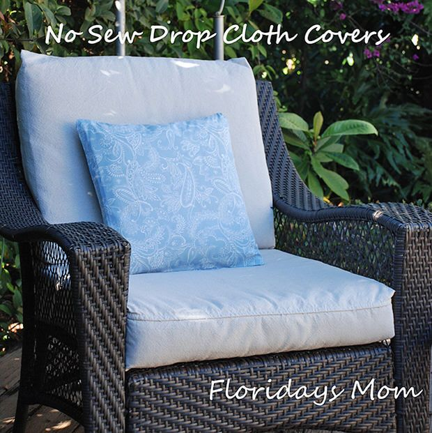 Diy Drop Cloth Projects Patio Cushions Patio Furniture