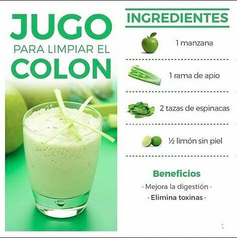 5 Remedios Para Limpiar El Colon Coloncleanseconstipation Detox Juice Recipes Detox Juice Healthy Juices