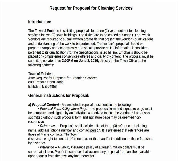 Cleaning Proposal Template Pdf Inspirational 12 Cleaning
