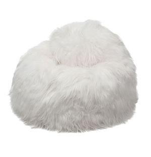 Pouf Peau De Mouton Islande Poils Longs Blanc Naturel Pouf Poire Peau De Mouton Pouf