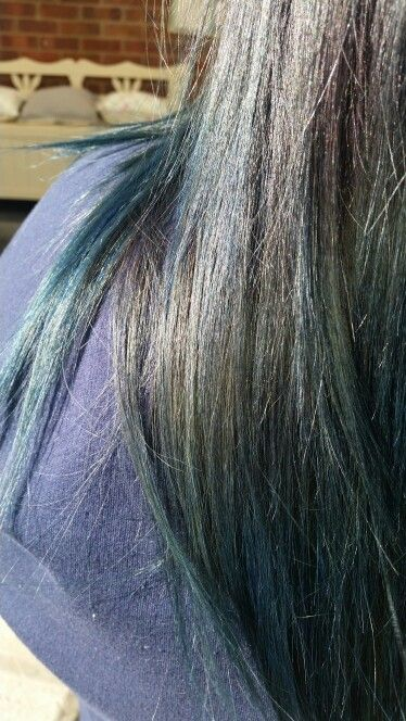 Haircut and colour by me using manic panic rockabilly blue