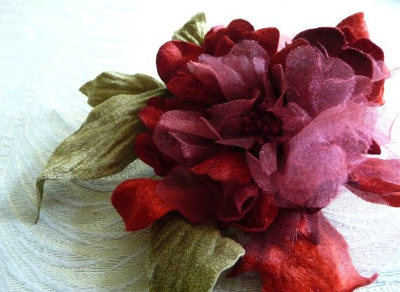 Velvet and silk millinery flower red peony with leaves for velvet and silk millinery flower red peony with by apinkswan mightylinksfo