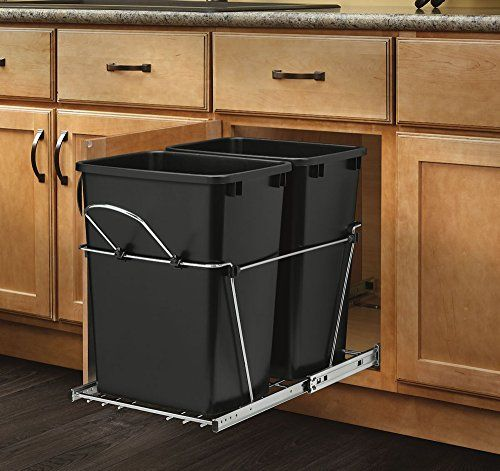 Rev-A-Shelf - RV-18KD-18C S - Double 35 Qt. Pull-Out Blac... | Home ...
