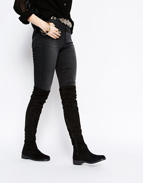 2fa8cd480d ASOS KEEPER Flat Over The Knee Boots | pls in 2019 | Boots, Knee ...