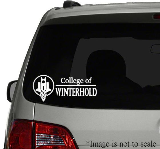 College Of Winterhold Vinyl Decal Skyrim Inspired Vinyl Decals Vinyl Decals