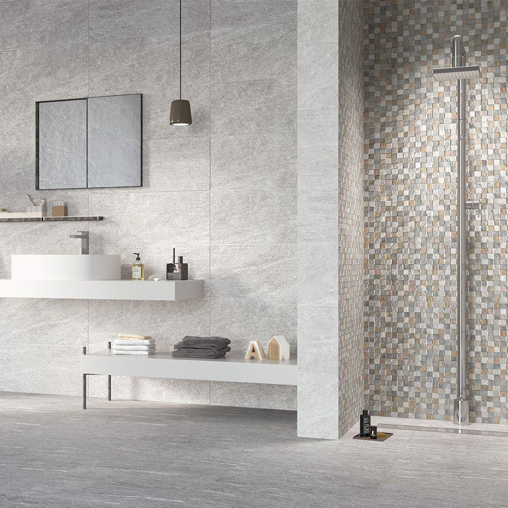 mosa que d corative effet pierre 32x80 5 taupe 3d. Black Bedroom Furniture Sets. Home Design Ideas