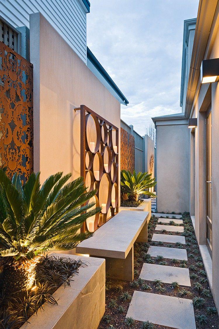 Habillage D Un Mur De Cloture décoration mur extérieur & clôture pour habiller l'espace