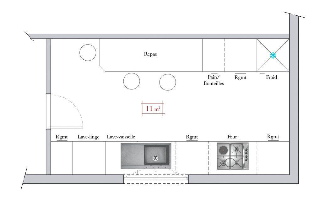 Conseils d 39 architecte comment am nager une cuisine en for Cuisine ouverte rectangulaire