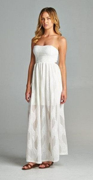Awesome White Maxi Dress Love The But Different Shoes Please