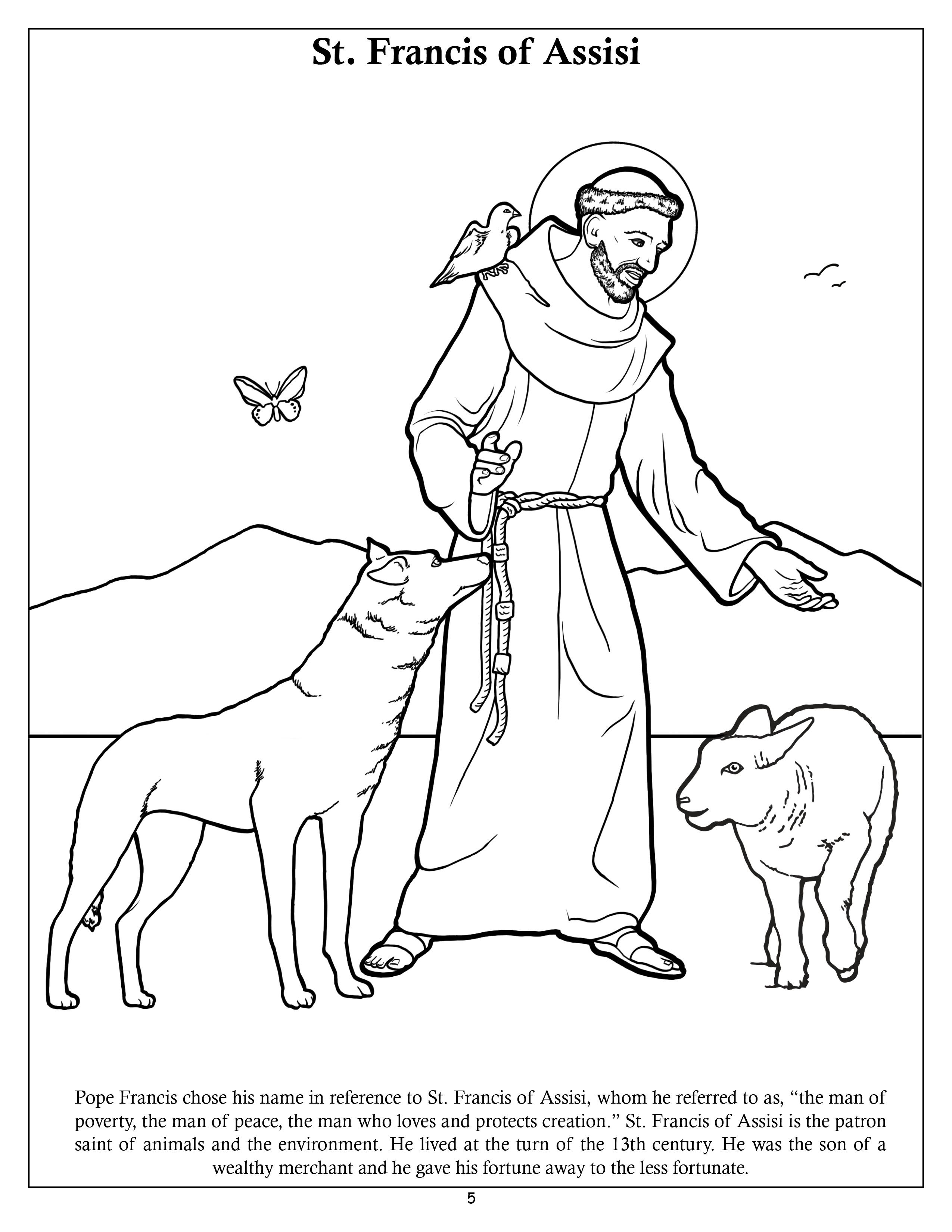 Popefrancis Jpg 2 550 3 301 Pixels St Francis Francis Of Assisi Coloring Pages