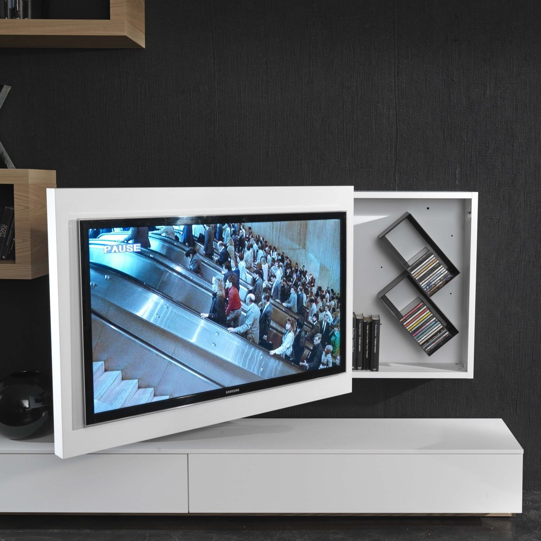 Tv möbel hängend  Rack TV-Möbel hängend, schwenkbar und zu öffnen - ARREDACLICK ...