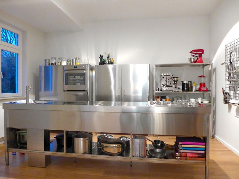Alpes Inox - 70X320 STAINLESS STEEL KITCHEN COUNTER AND COLUMNS ...