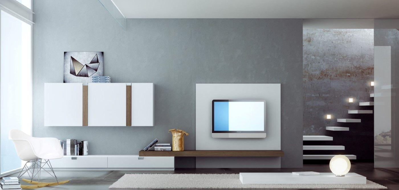 Salon blanco moderno david moreno david moreno - Estudios de interiorismo valencia ...
