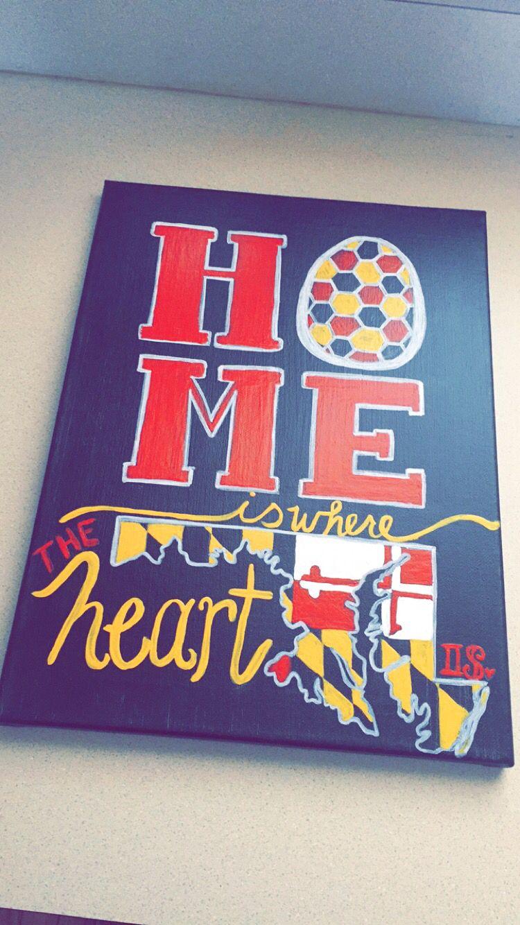 Made To Order Canvas Maryland Or Any Other State Or College Order On My Etsy College Canvas Art Dorm Canvas Art Canvas Art