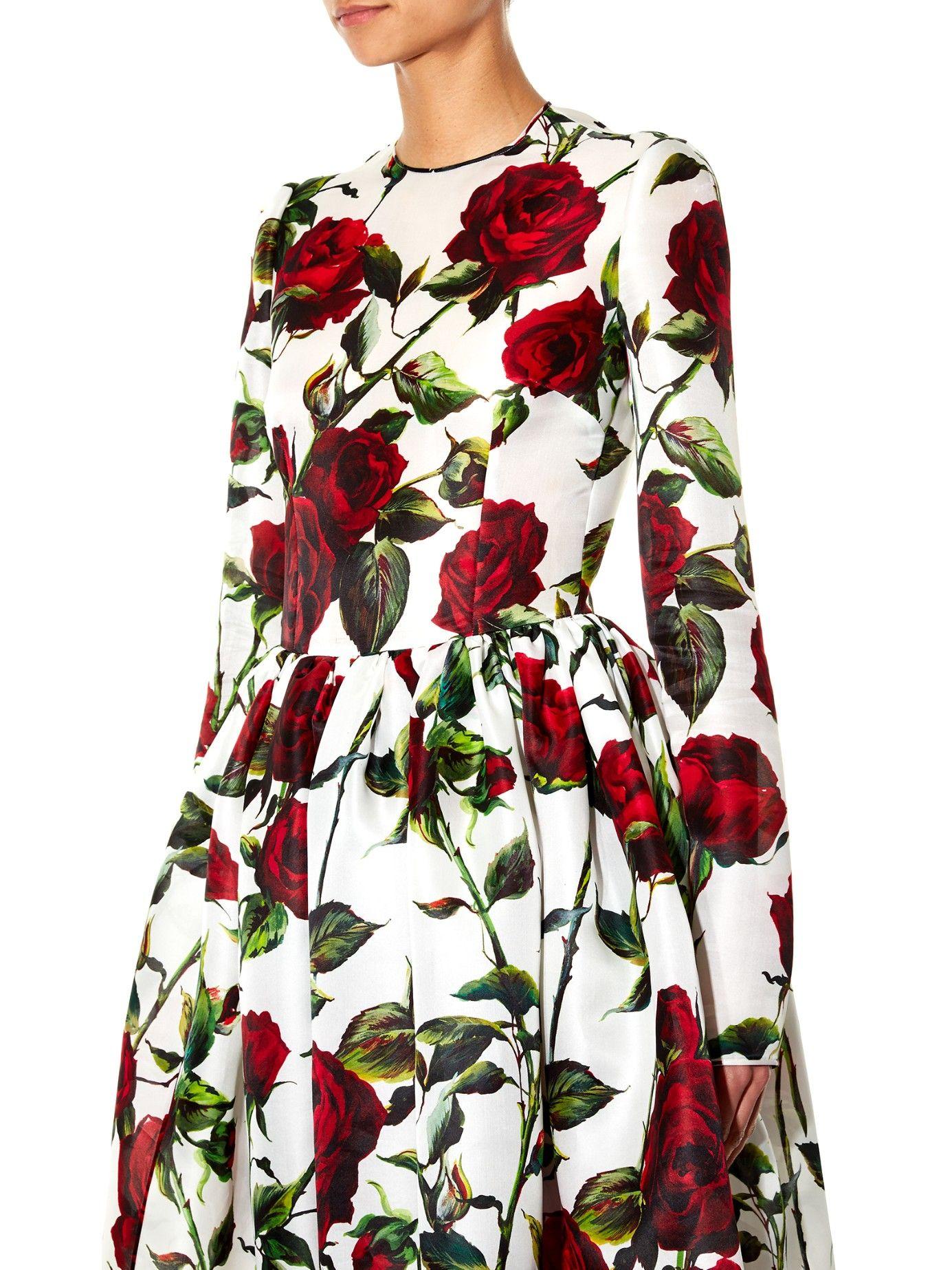 031fb85d Lyst.com.au rose print dress | patterns | Dresses, Silk midi dress ...
