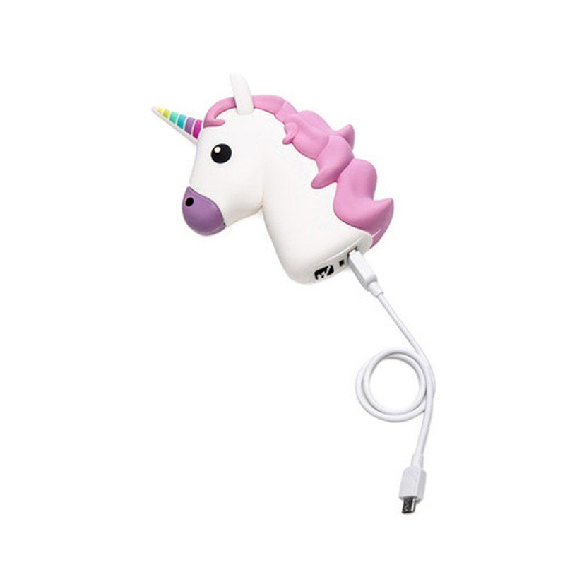 Kawaii Unicorn Emoji Portable Powerbank Charger Accessory for IOS Android Phones