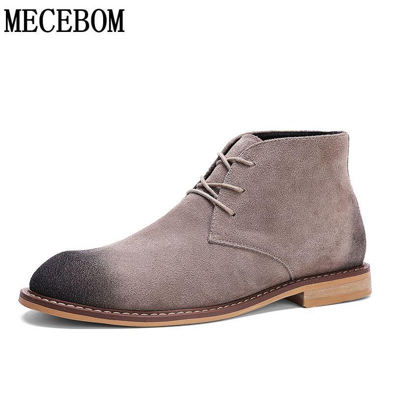 1a9b15073f0 Men boots british retro leisure botas high-top men ankle-boots lace ...