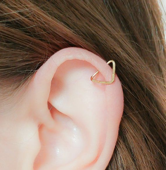 MOTHER DAY - Triangle Helix-Triangle Helix Earring-Triangle Ear Piercing-Triangle Helix Piercing-Triangle Helix Hoop Piercing