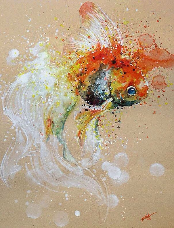 Tilen Ti Style Art Painting Watercolor Paintings Watercolor Splash