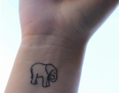 Wrist Tattoo Of Elephant Outline Elephant Tattoo Small Elephant Tattoos Cute Elephant Tattoo