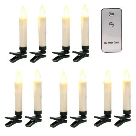 Best Battery Operated Clip Wax Drip Taper Candles Set Of 10 400 x 300