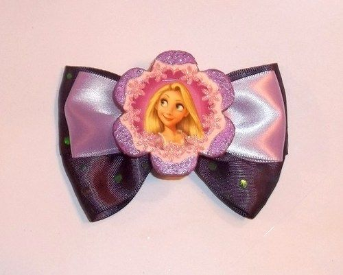 Tangled Rapunzel Purple and Lavender Hair Bow Embellished Barrette | Jenstardesigns - Accessories on ArtFire
