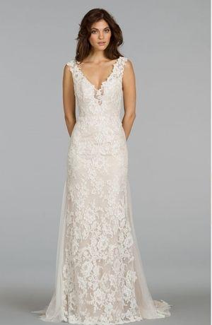 Bridal Gowns: Alvina Valenta Sheath Wedding Dress with V-Neck ...