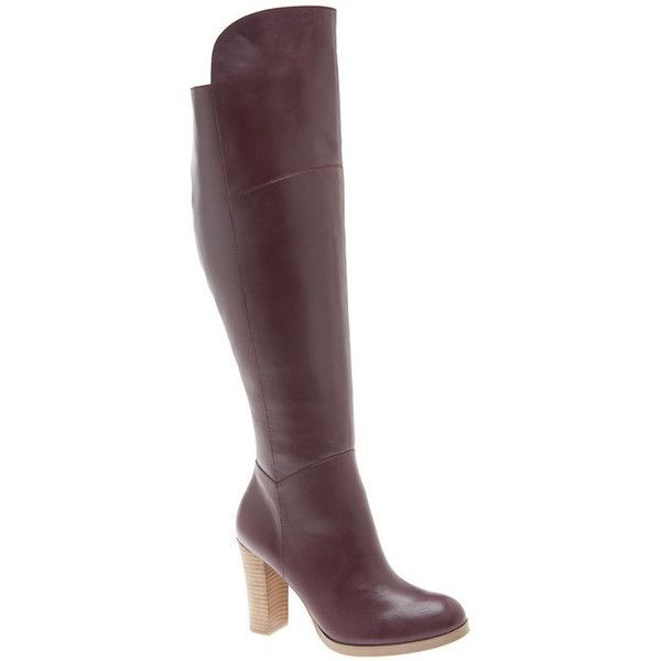 787265d5e Lane Bryant Wide Calf Luciana leather over the knee boot ( 150) ❤ liked on  Polyvore featuring shoes