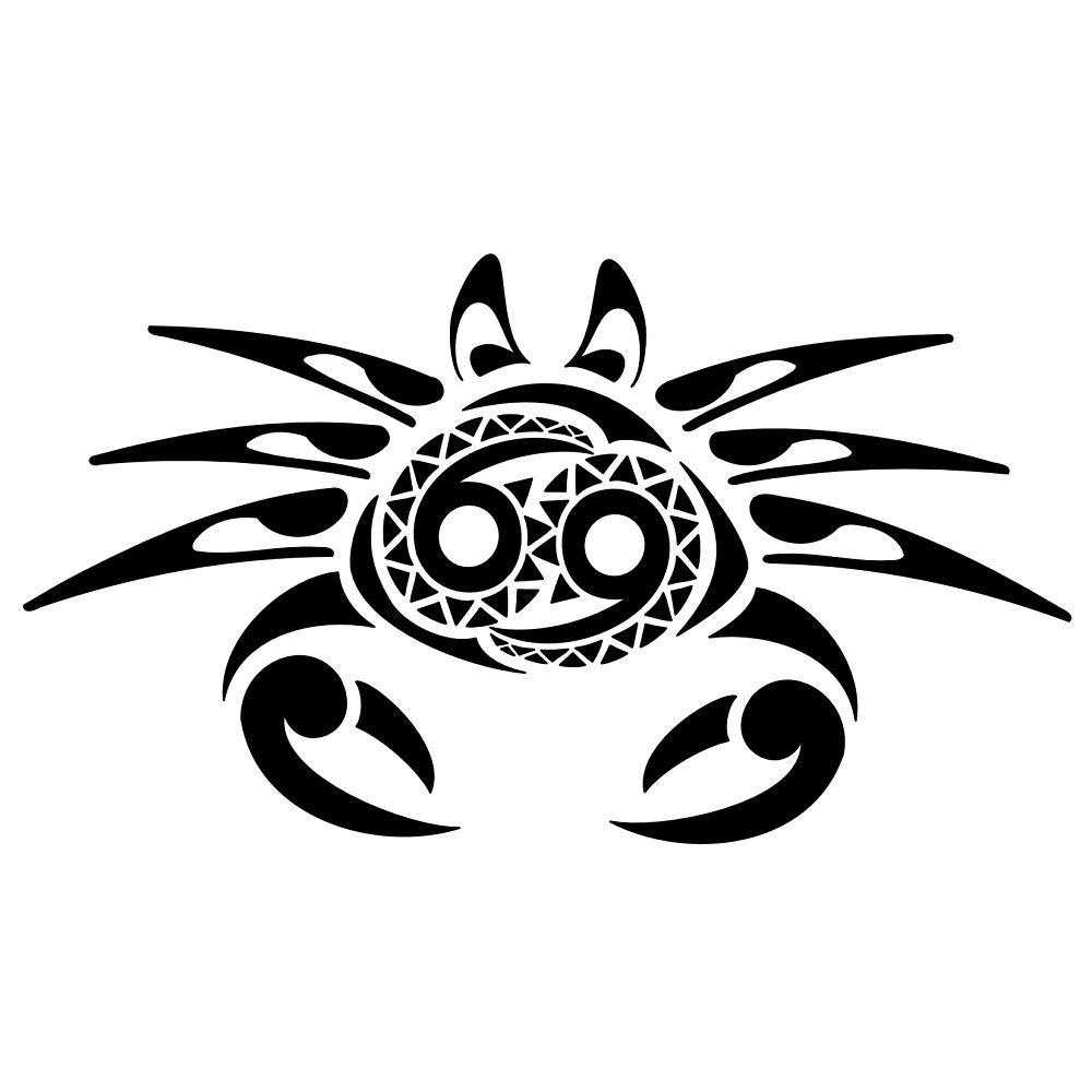 tribal zodiac cancer tattoos pinterest zodiac cancer tattoo and zodiac tattoos. Black Bedroom Furniture Sets. Home Design Ideas