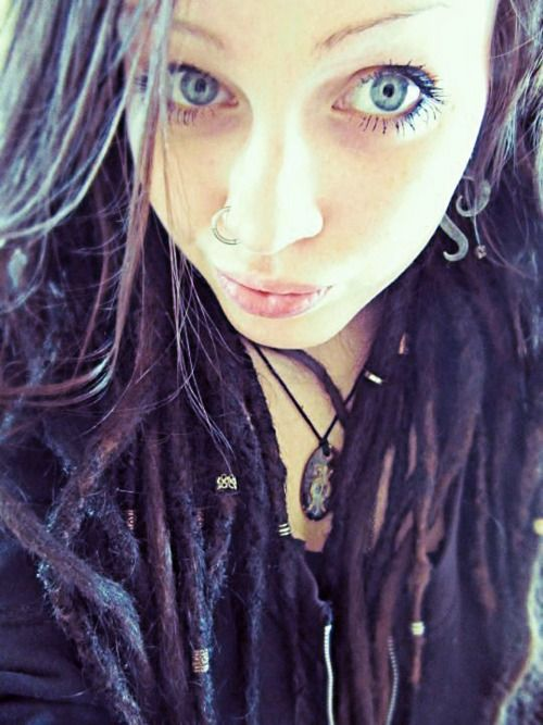 Eyes, it would be kinda cool to have deep purple dreads :)