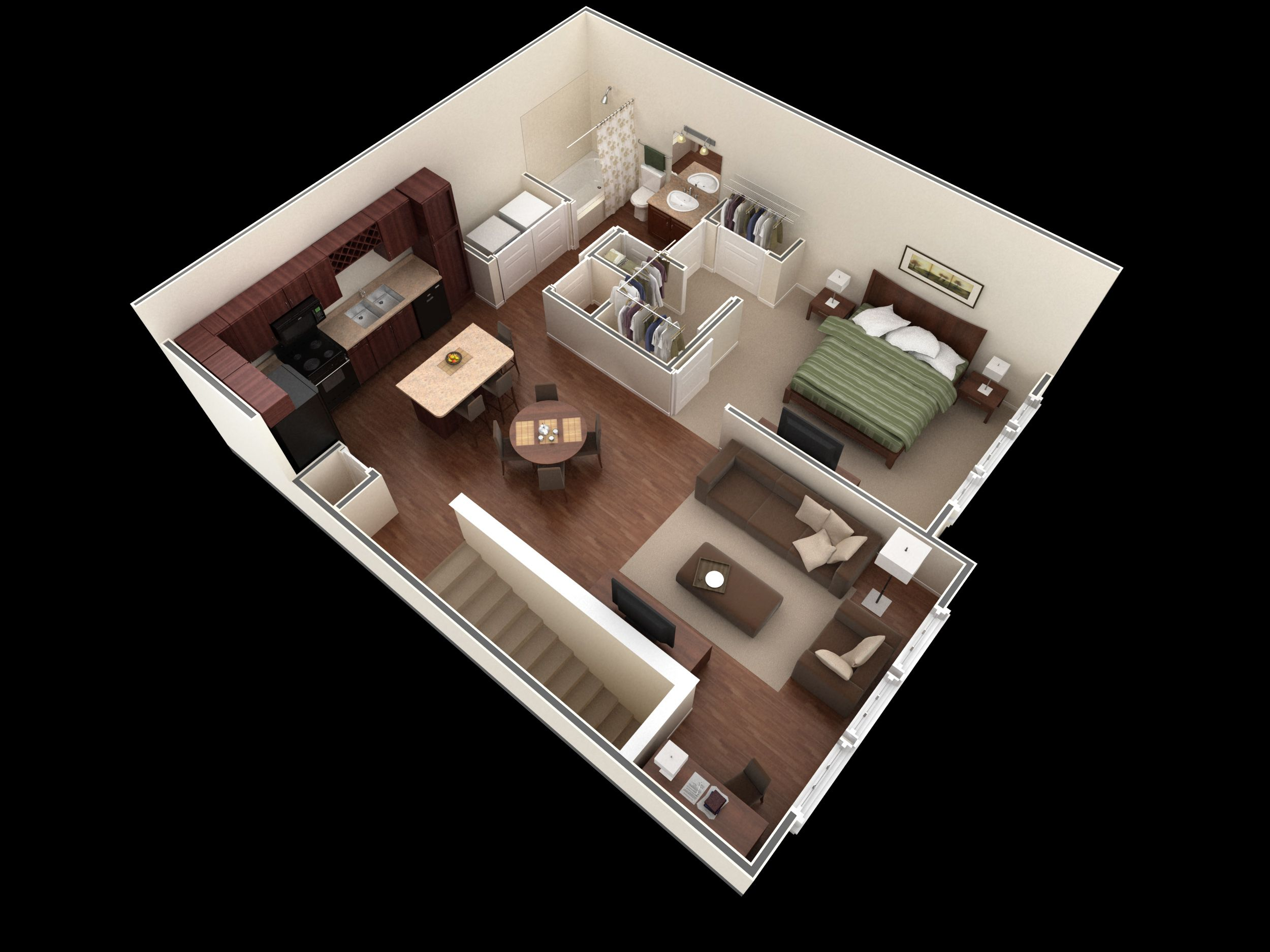 Apartments In Corpus Christi Tx Springs At Corpus Christi One Bedroom House Floor Plan Design Small House Design