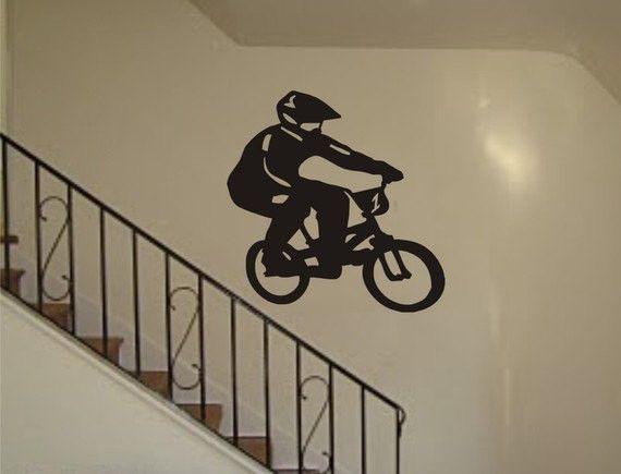 BMX Biker Version 2 Design Sports Decal Sticker Wall Vinyl