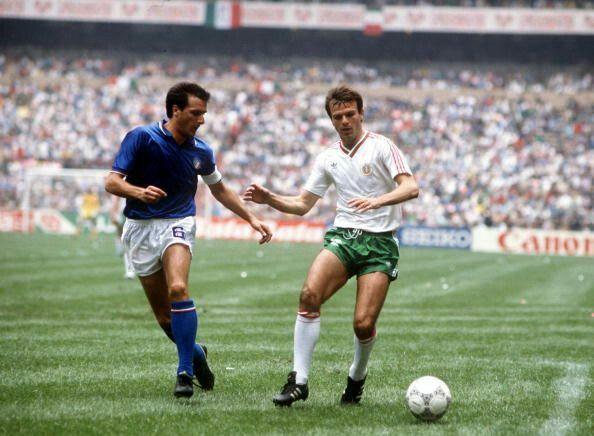 Bulgaria 1 Italy 1 in 1986 in Mexico City. Italian captain Gaetano ...