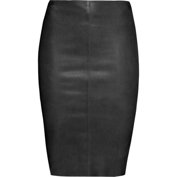 JITROIS Chantal Black // Leather pencil skirt (1,780 CAD) ❤ liked ...