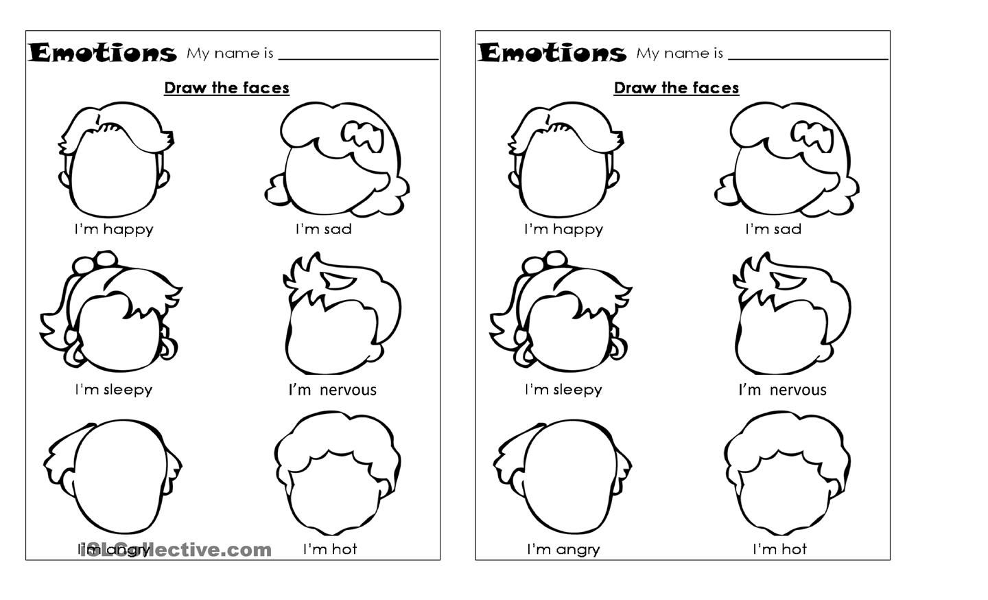 Pictures Emotion Worksheets - Studioxcess