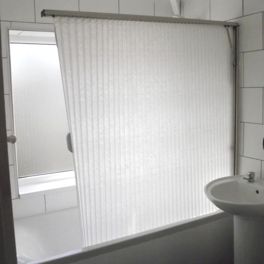 shower screen over bath folding curtain