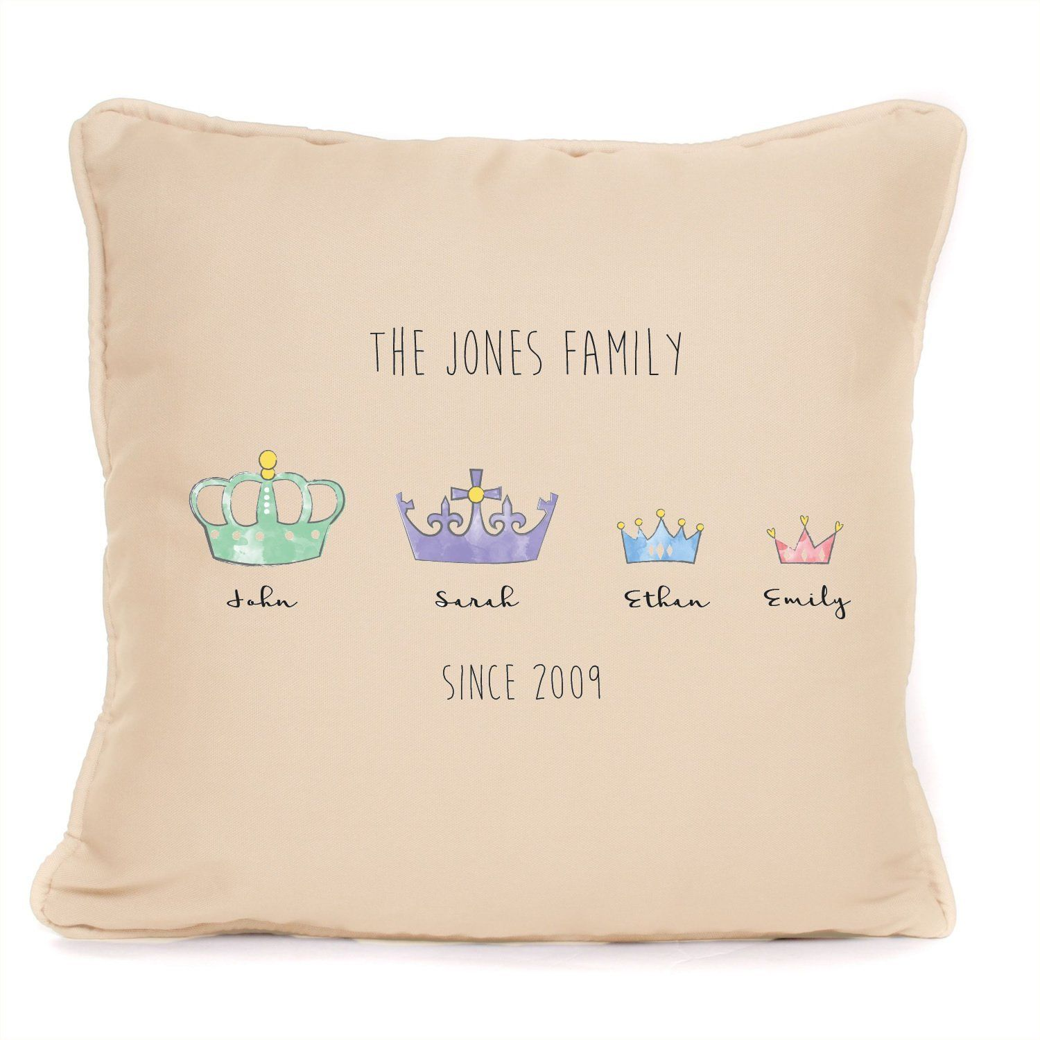 uk gifts for families personalised family throw pillow cushion
