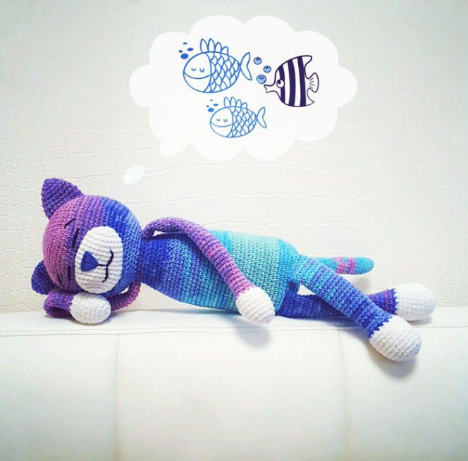 Large Ami Cat Crochet Pattern Free Stuff Toys Pinterest Cat
