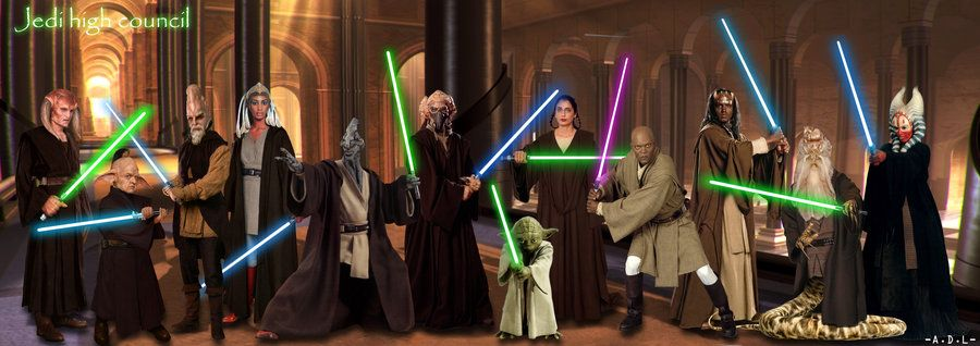 Star Wars Jedi Council Jedi High Council Ep Ii By Adlpictures Jedi Star Wars Jedi Star Wars