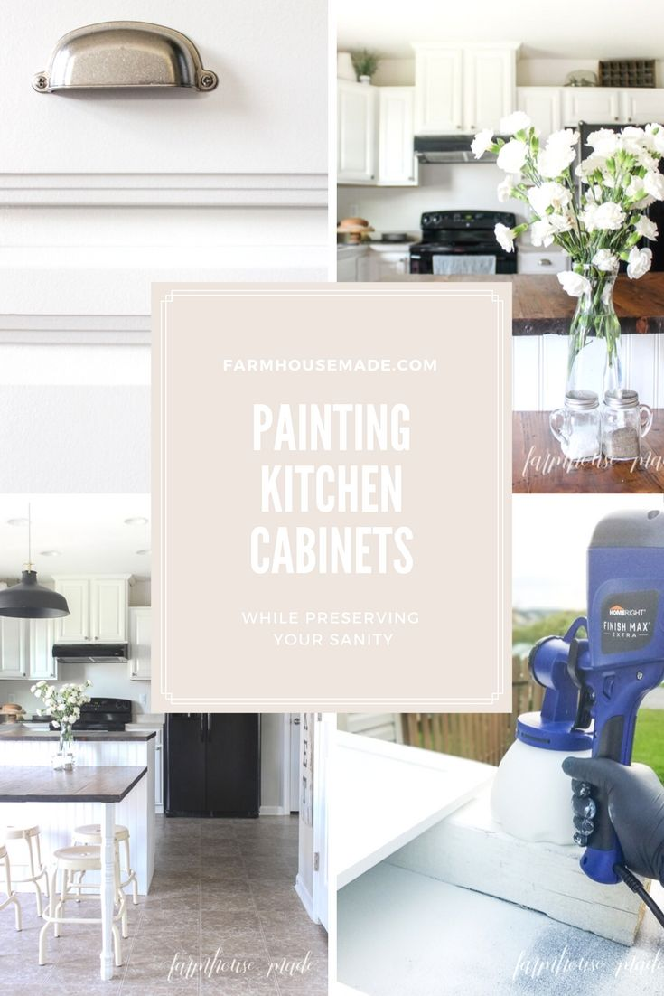 Painting Kitchen Cabinets For Beautiful Results | Farmhouse