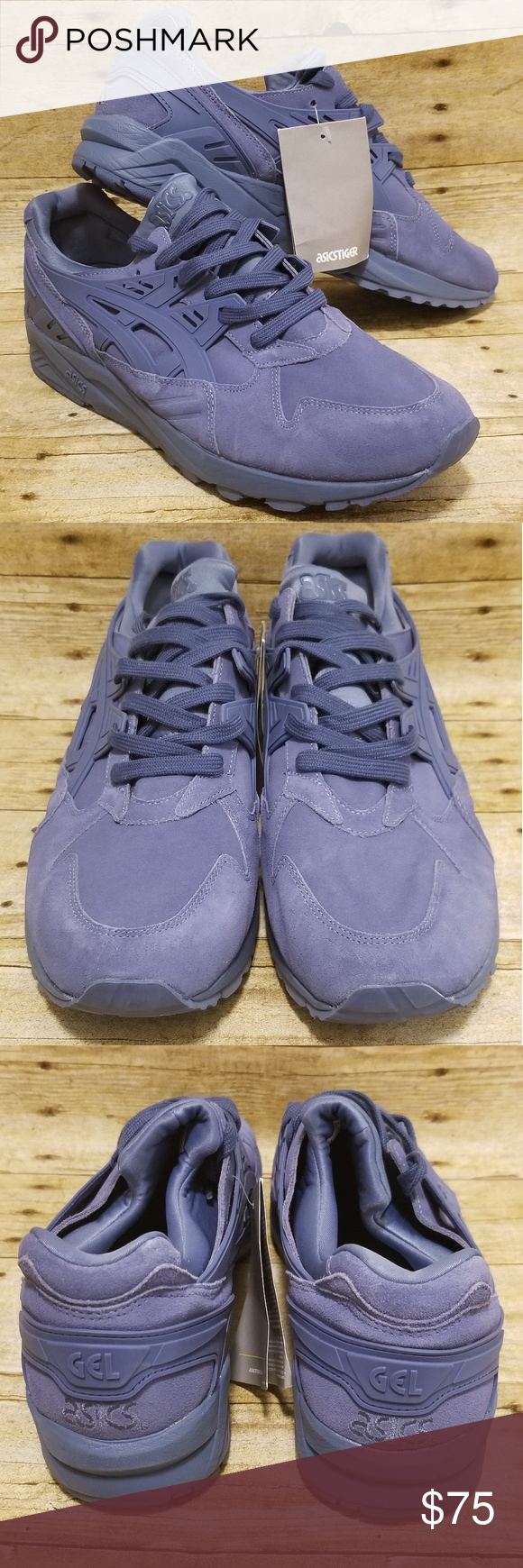 separation shoes c9868 2a05b ASICS Gel-Kayano Trainer Men Pigeon Blue Suede Asics Gel-Kayano Blue  Stylish Features   details Man-Made Material Shaft measures approximately  Low-Top