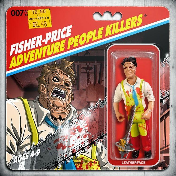 Horror movie action figure art fisherprice adventure