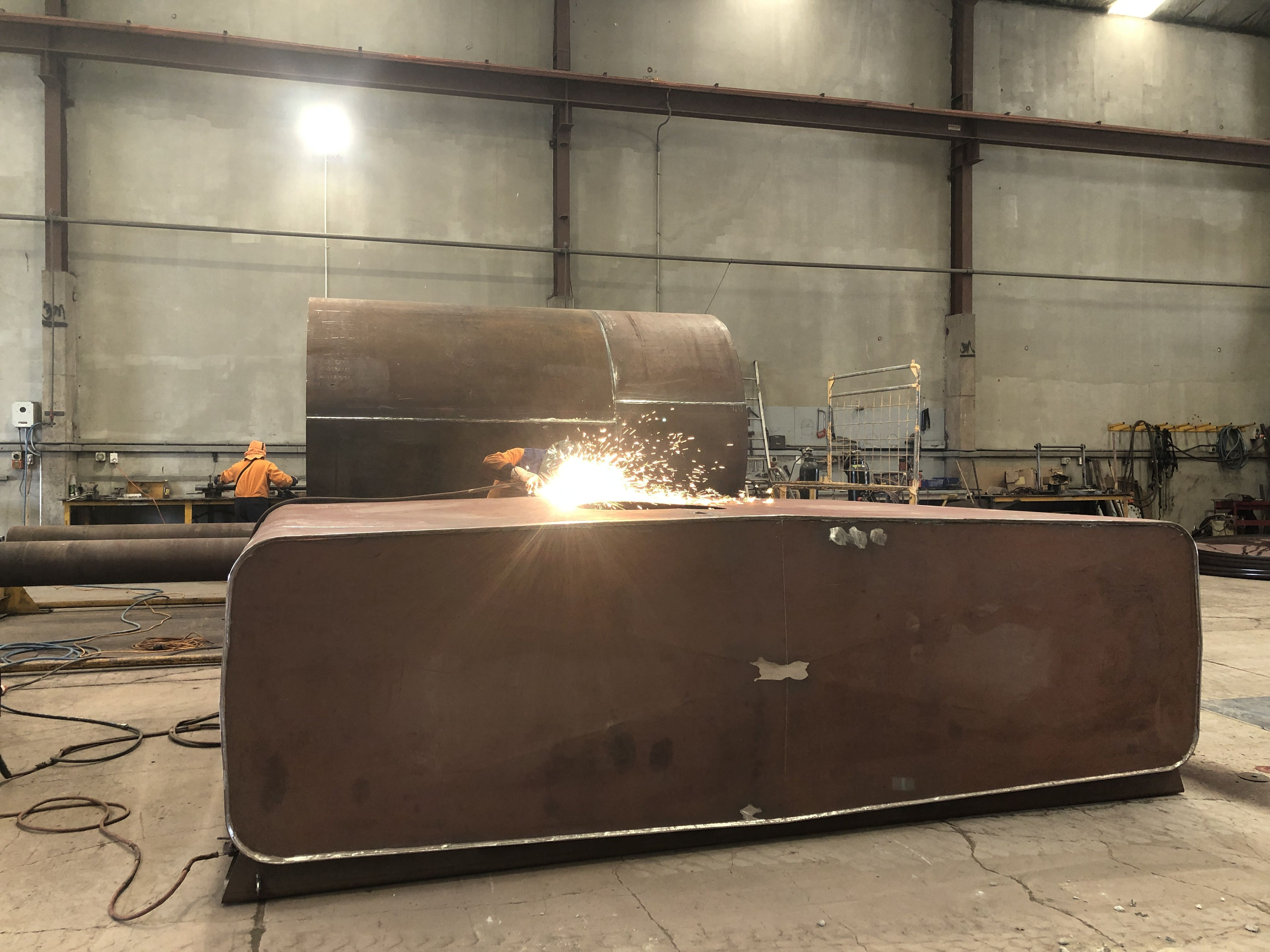 Custom Projects Here Is Our Welder Ivan Working On A Custom Waste Oil Tank For Mb Century Fuelchief Work On A Variety Of P In 2020 Fuel Storage Propane Tank Art Fuel
