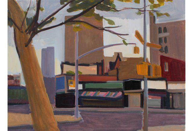 Quiet New York Street Scene, 1977,  $895