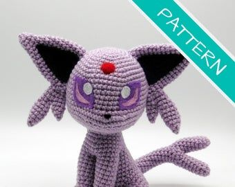 Crochet Pattern Chibi Umbreon Amigurumi PDF File