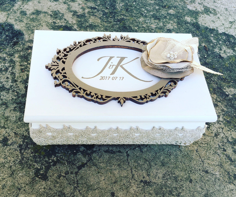 Personalised Wedding Ring Box Handmade Ring Box.