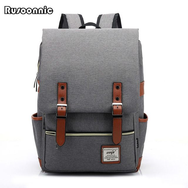 0289594fbfd Hot Item  18.75, Buy Fashion Men Bag Canvas Backpack Women Oxford Travel  Bags Retro Backpacks