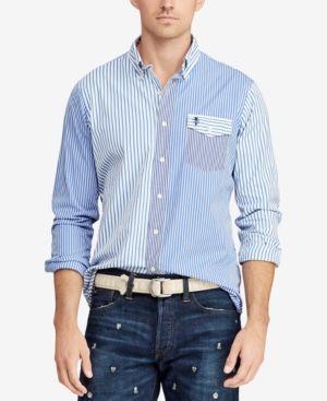 7f498a01b4 Polo Ralph Lauren Men s Classic Fit Poplin Shirt - Fun Shirt L ...